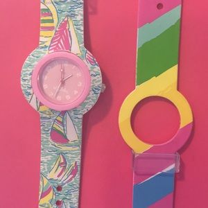 Lully Pulitzer 2 watch band set IN BOX!!